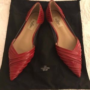Valentino Red Flats Size 38